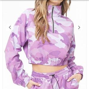 Purple Camo Cropped Windbreaker 💜